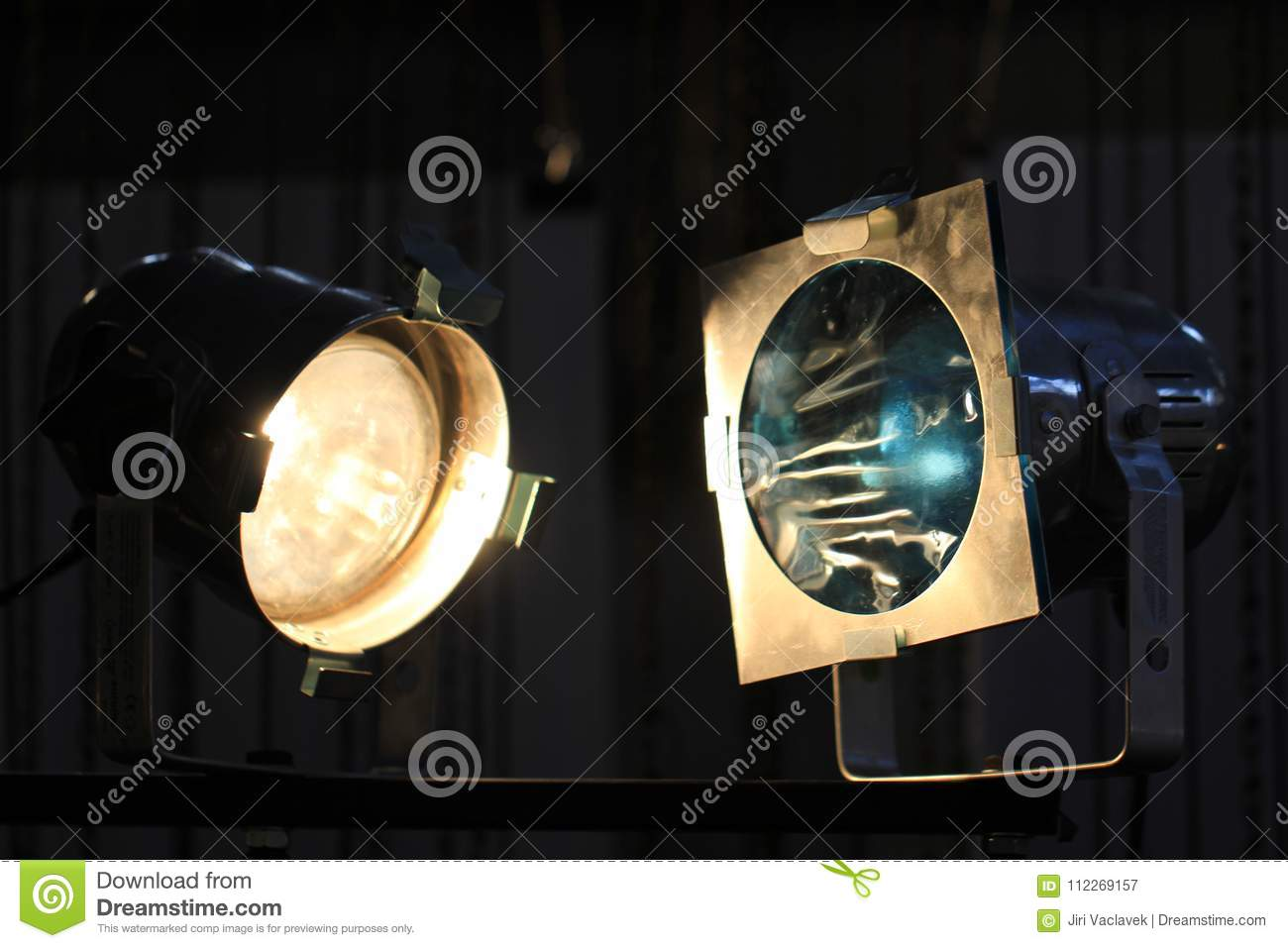 Detail of lamps from ramp stock image  Image of background - 112269157