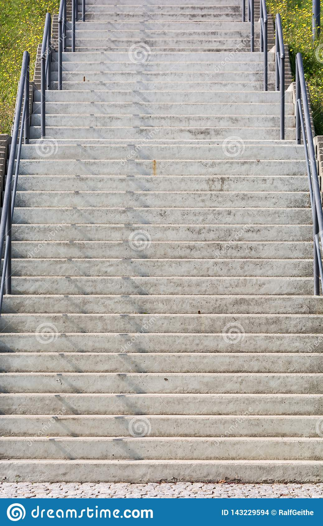 Large staircase made of concrete as a sign of the gradual ascent