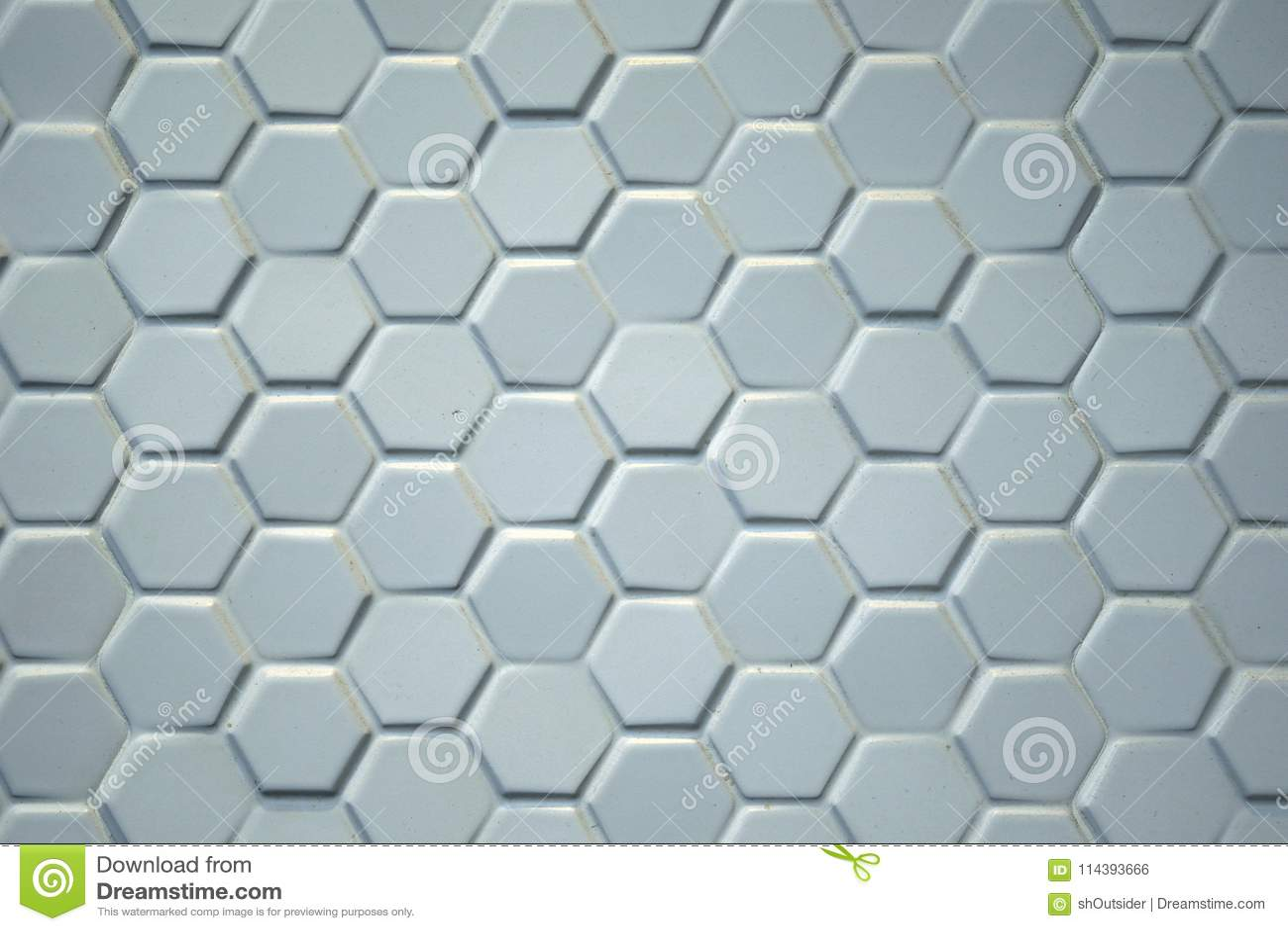 Detail Of Light Gray Hexagonal Ceramic Tiles Stock Photo Image Of