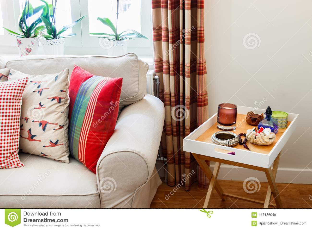 Living Room Interior English Country Syle Stock Image Image