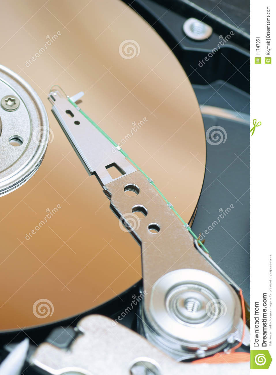 Detail Of A Magnetic Computer Hard Disk Stock Image ...