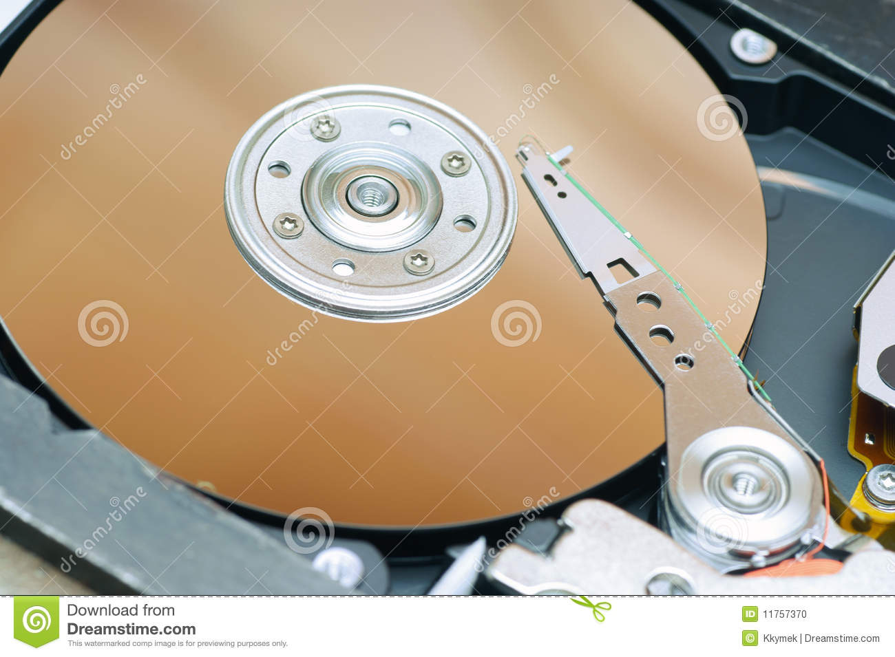 Detail Of A Magnetic Computer Hard Disk Stock Photo ...