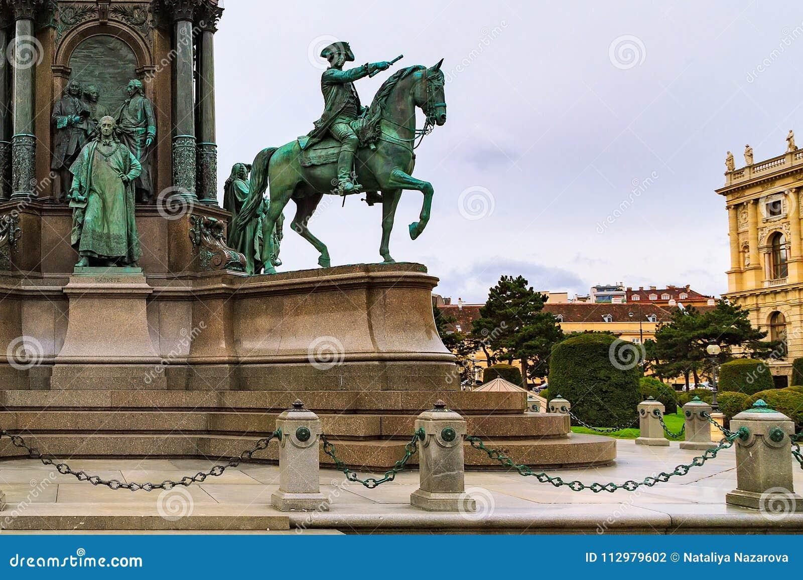 Detail of Maria Theresa monument, Vienna, Austria