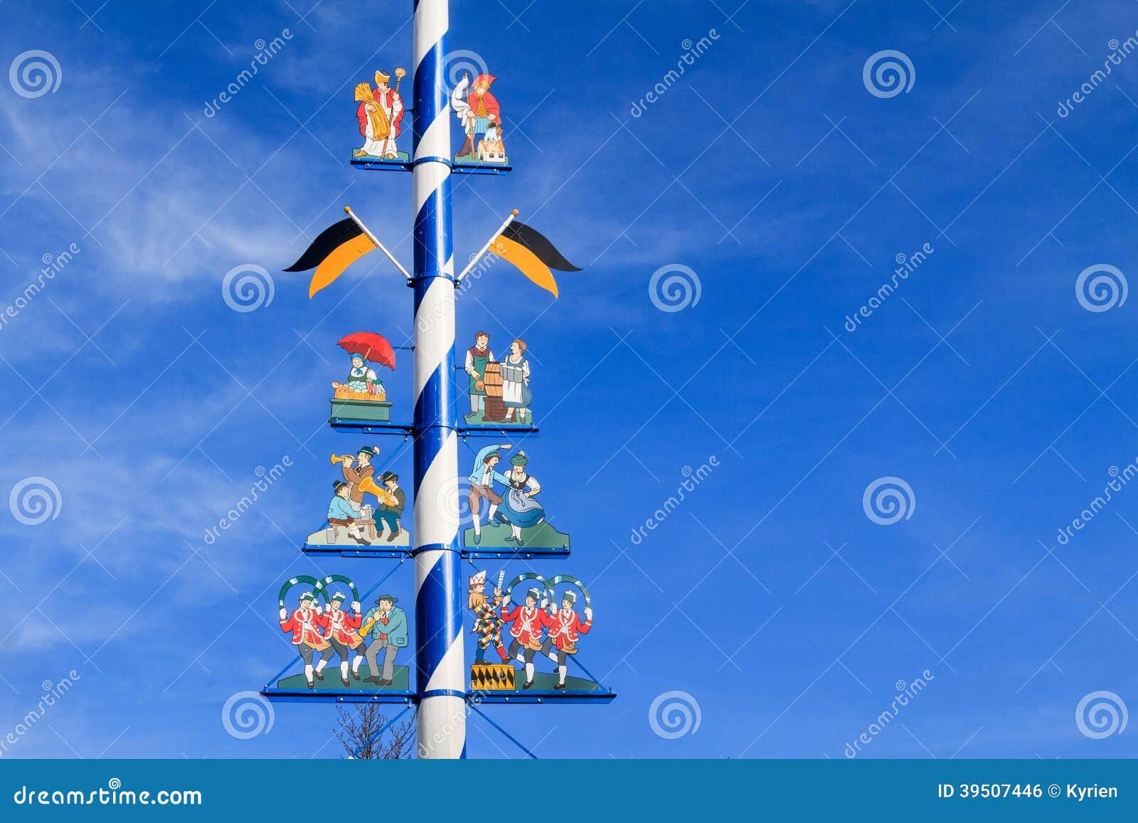 Detail of a Maypole in Munich