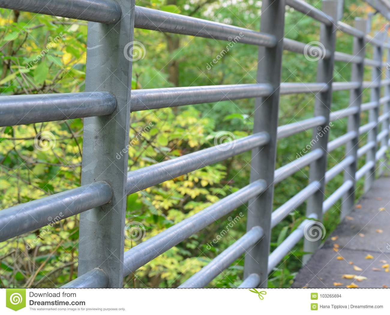 Detail Of A Metal Railing On A Bridge, The City Of Horn