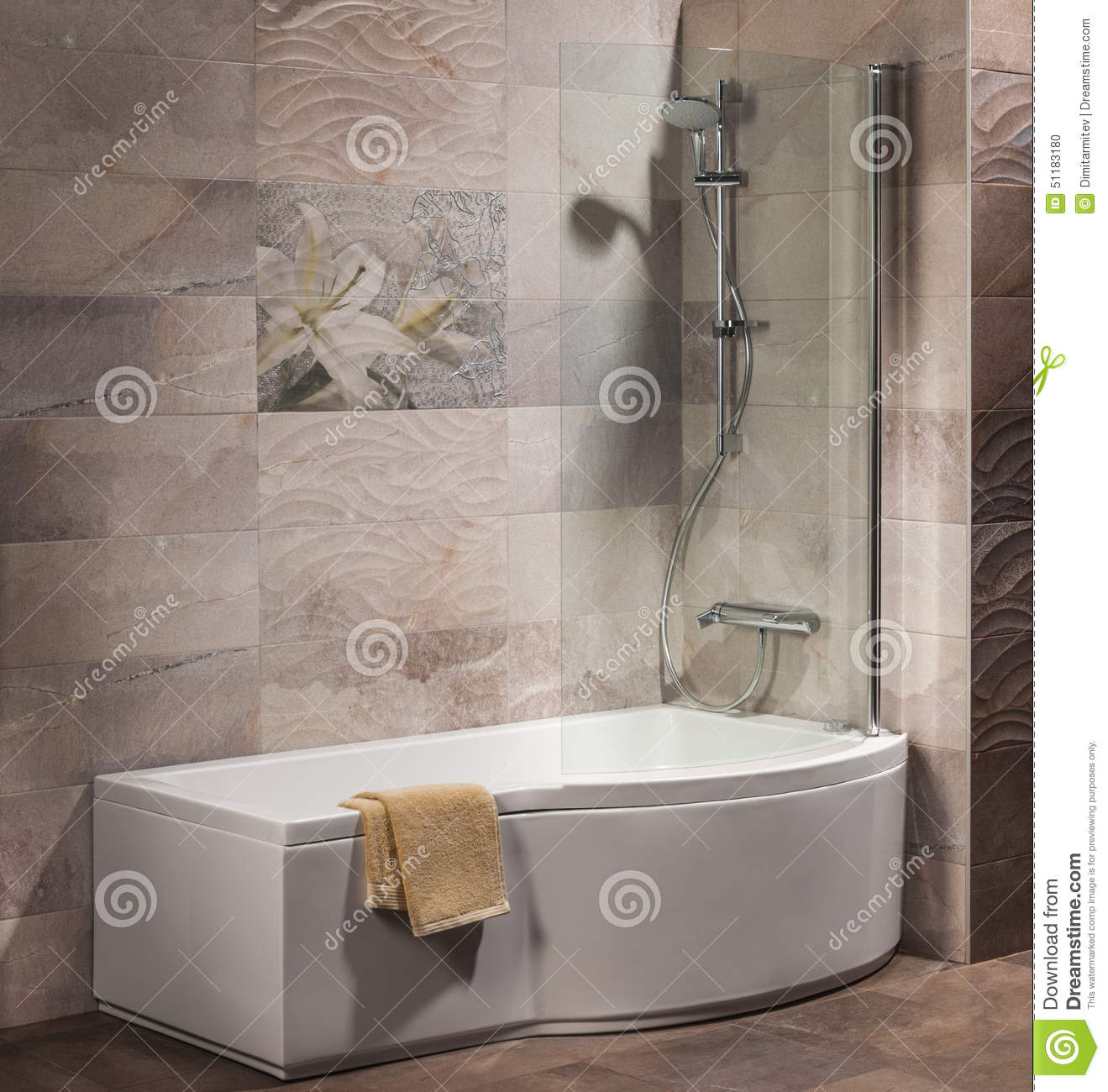 Detail of a modern bathroom stock photo image 51183180 for Detail in contemporary bathroom design