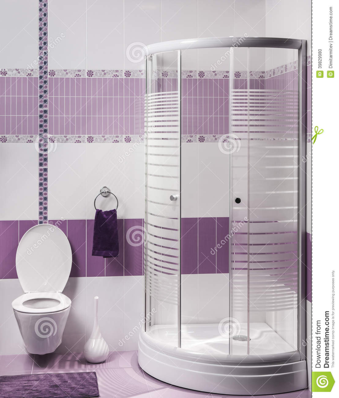 Detail of a modern bathroom interior with luxury shower for Detail in contemporary bathroom design