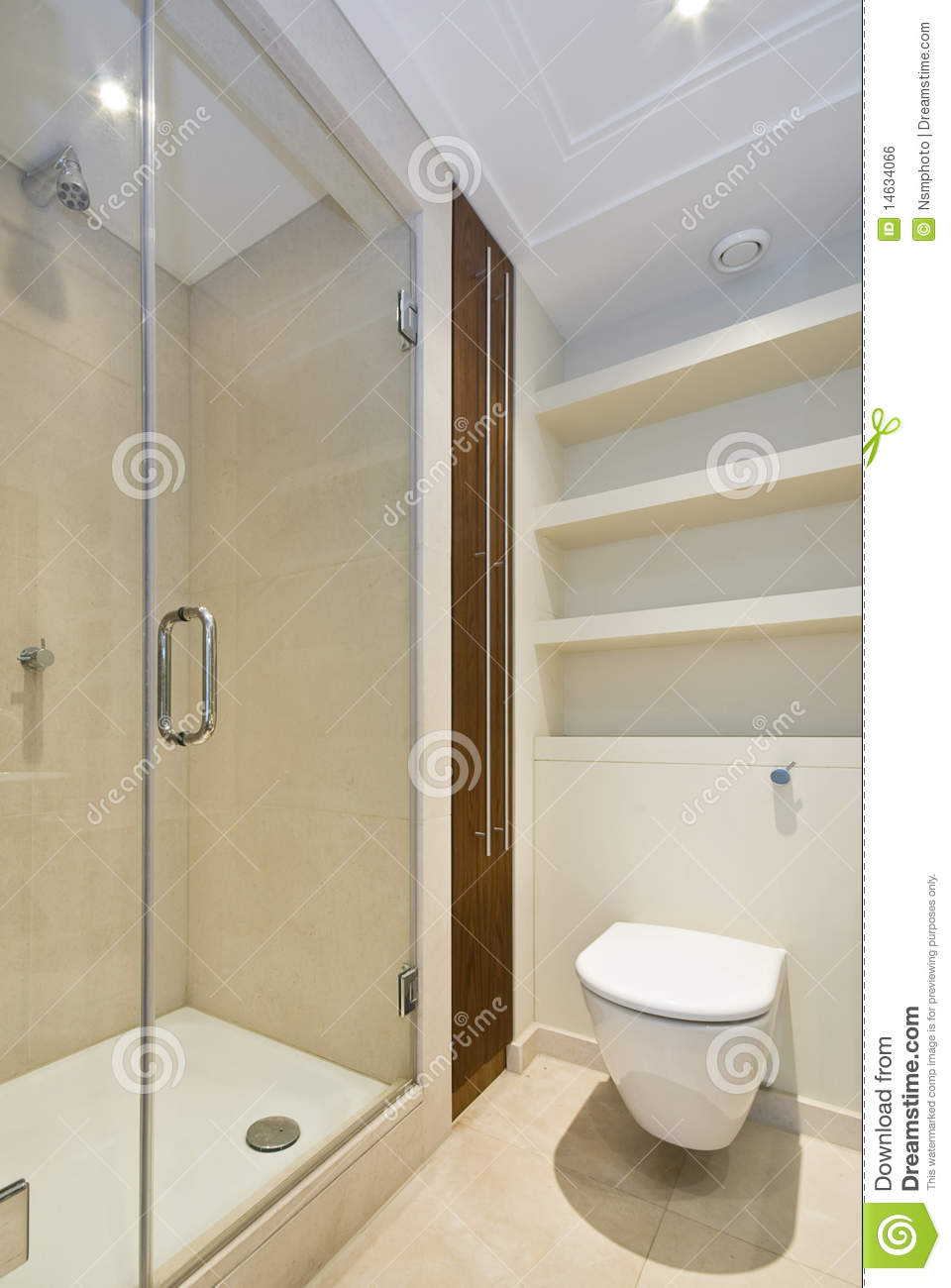 Detail Of A Modern En Suite Shower Room Royalty Free Stock