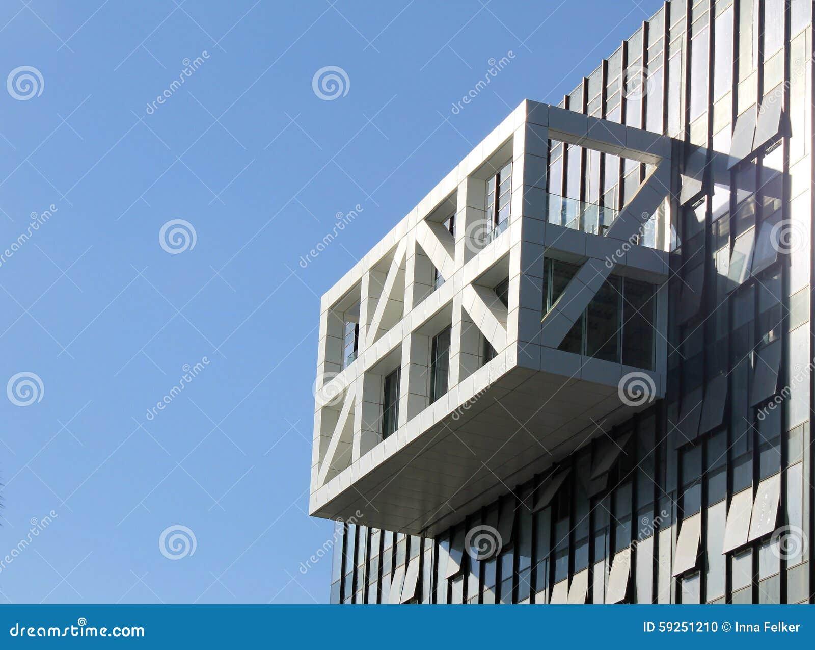 Detail of modern futuristic architecture building