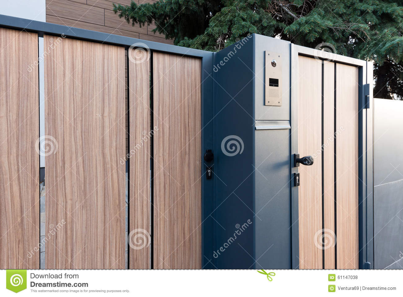 Detail Of Modern House Gate Stock Photo Image 61147038