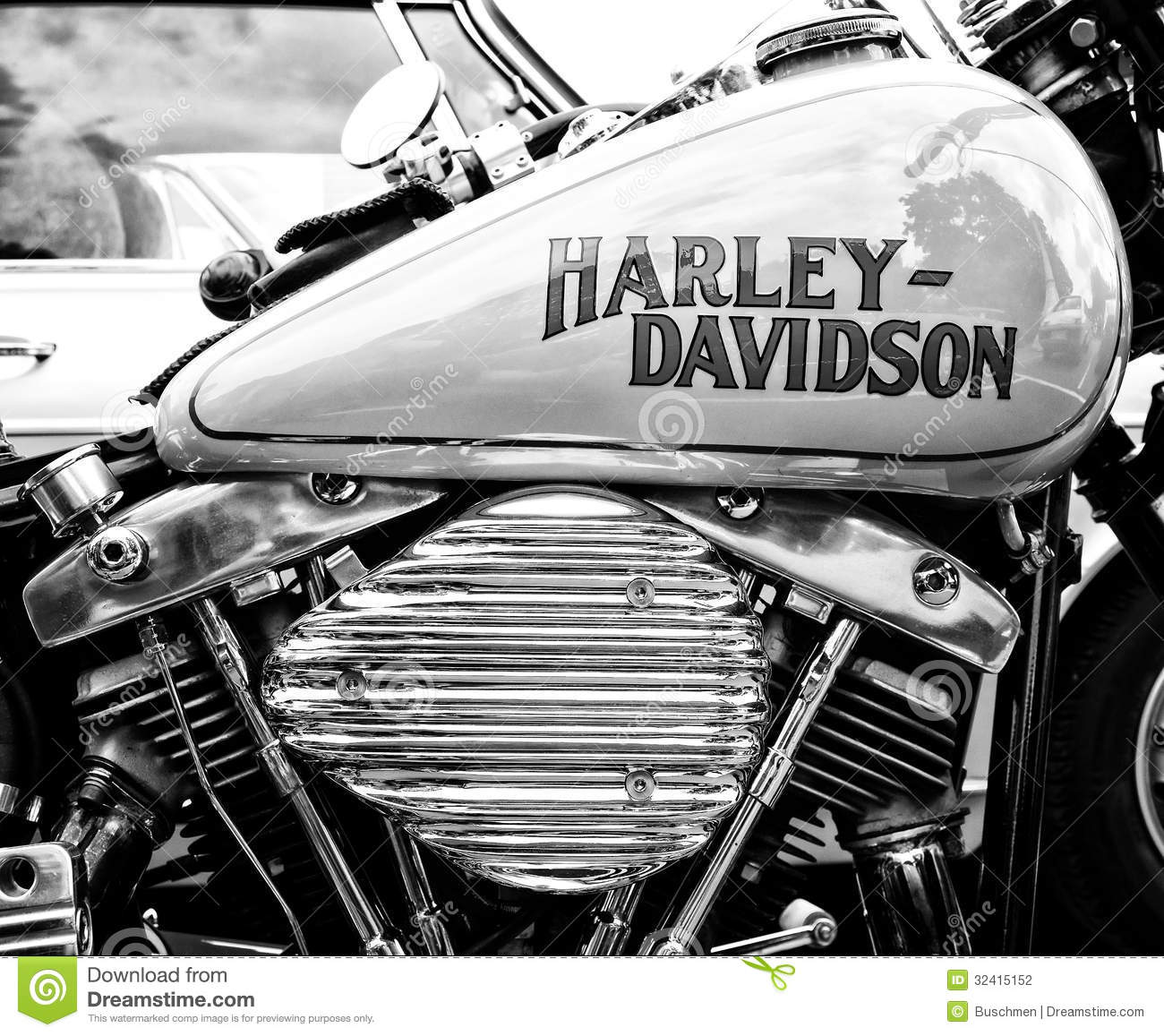 Detail Of The Motorcycle Harley-Davidson (Black And White) Stock ... for Harley Motorcycle Clipart  55dqh
