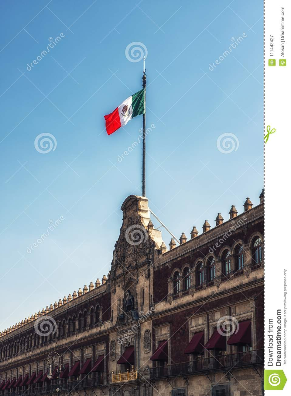 Palacio Nacional National Palace, Mexico City Stock Image