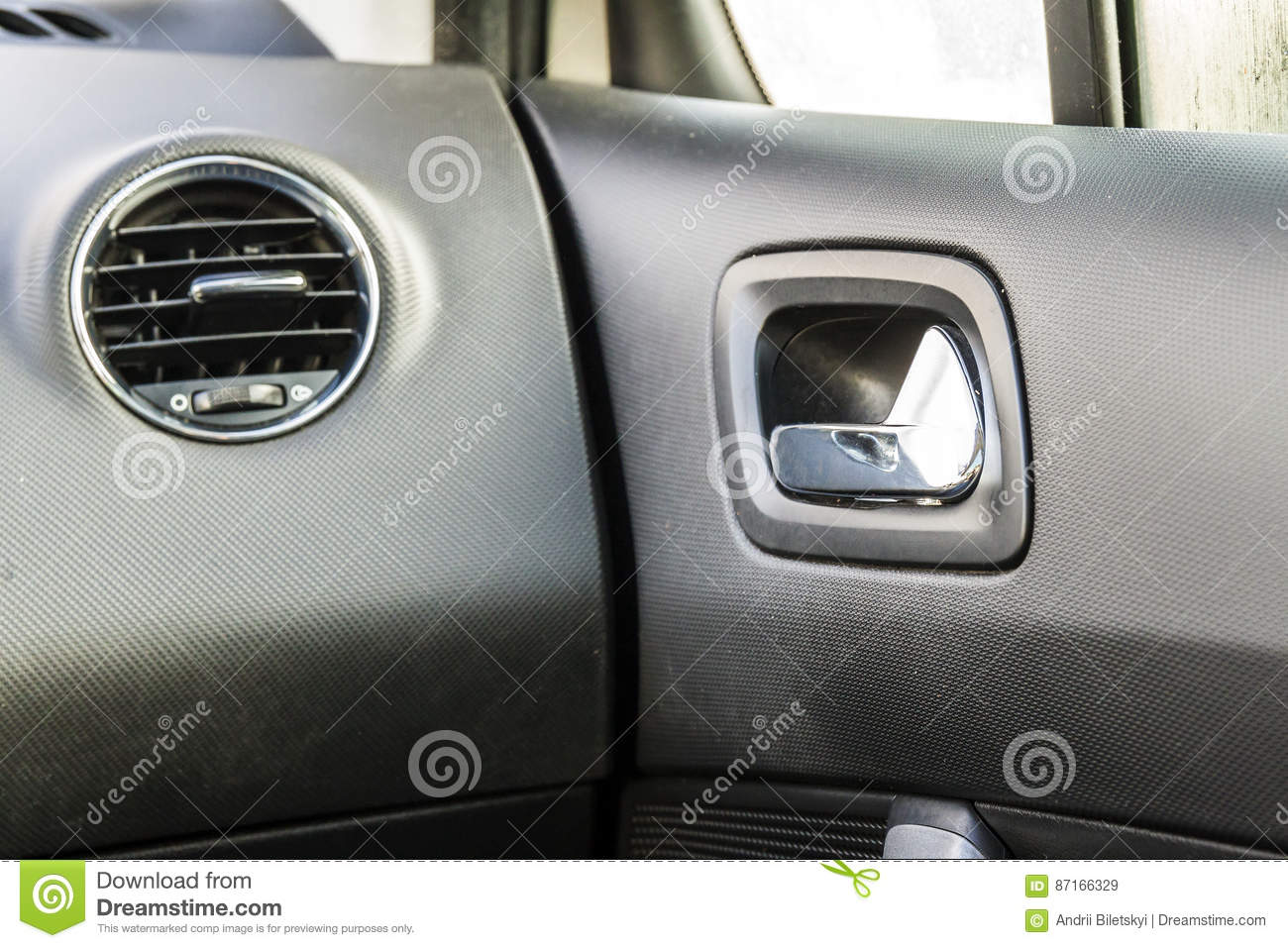 Detail Of New Modern Car Interior Focus On Heating Ventilation Royalty Free Stock Photo