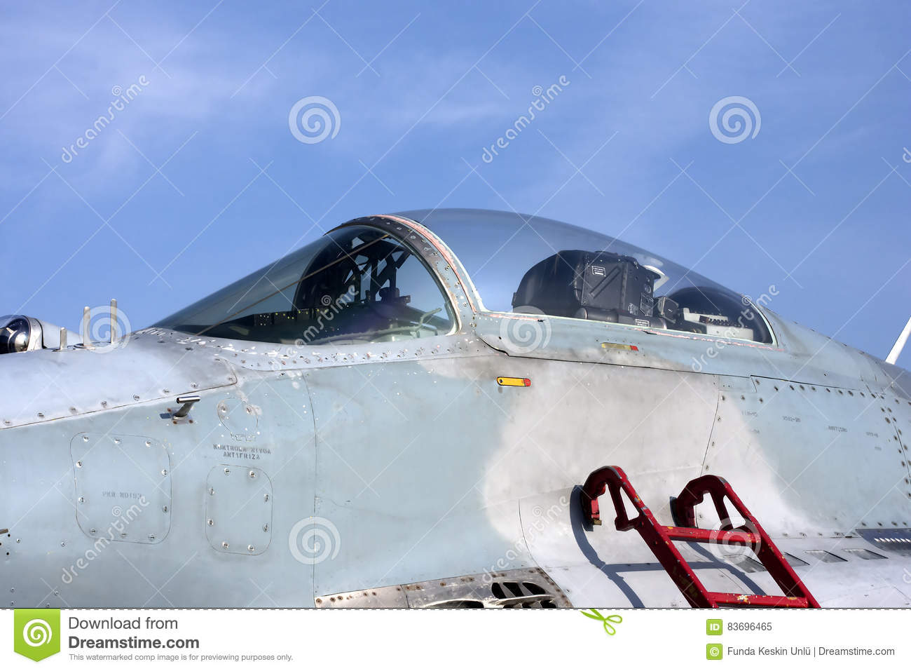 Detail of old plane mig 29 stock image  Image of serbia - 83696465