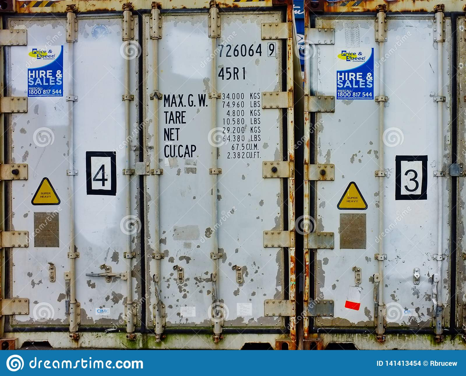 Detail Of Old Shipping Storage Containers Editorial Stock