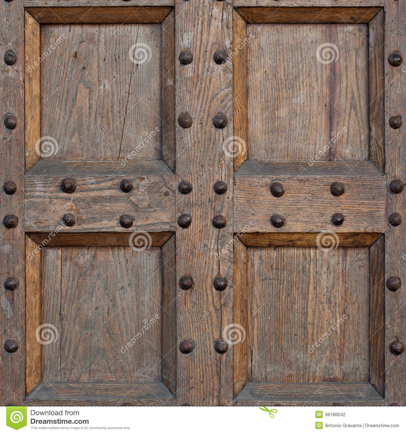 Detail Of An Old Door Texture Vintage Wood Stock Image