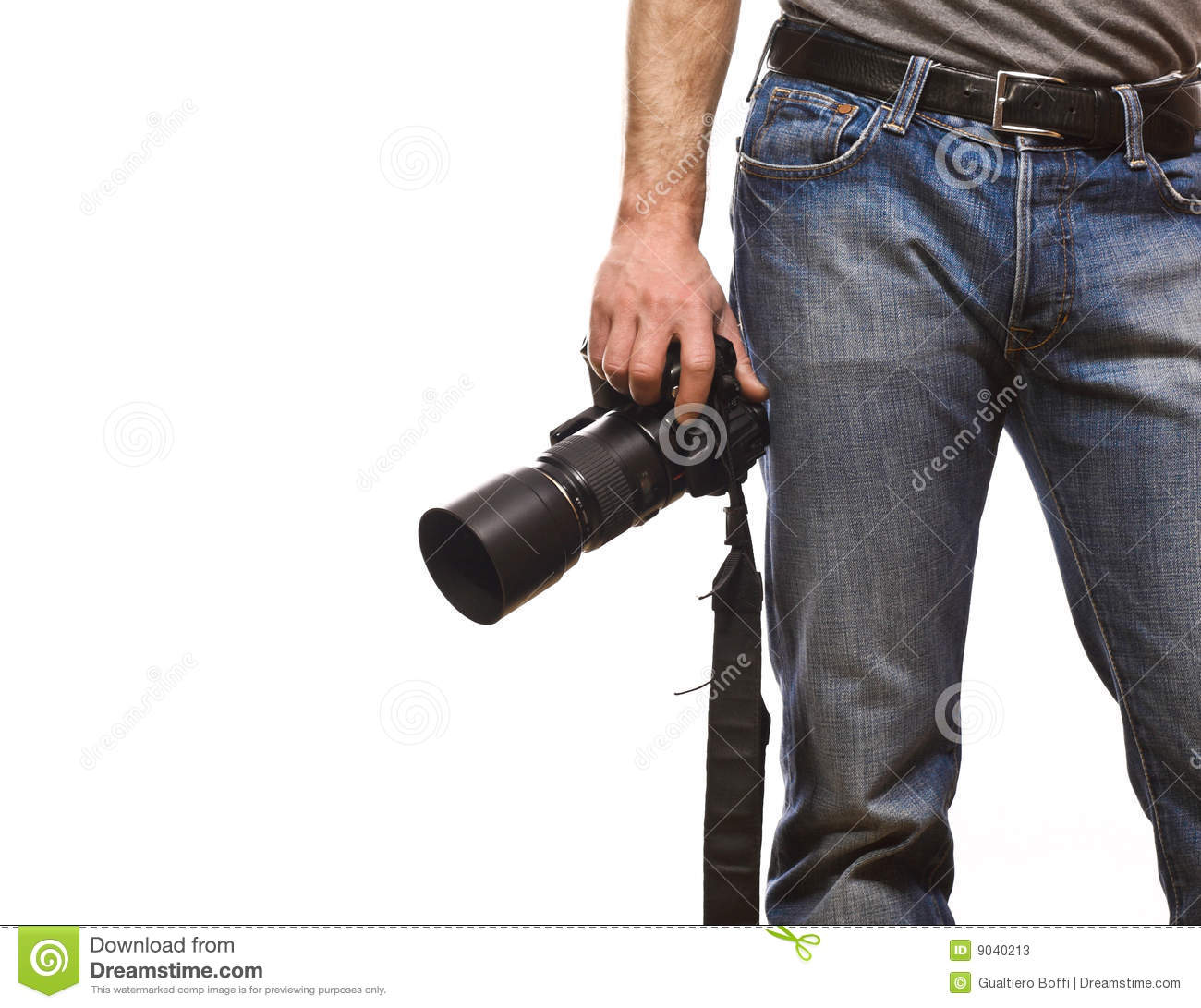 Detail of photographer