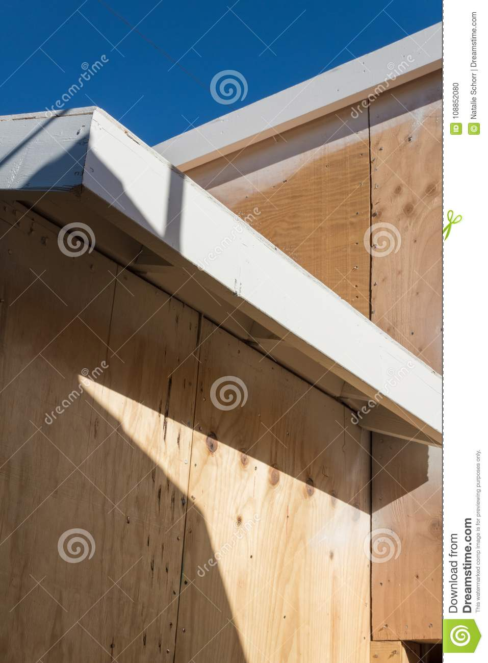 Detail Of Renovation Or New Construction Building Exterior With ...