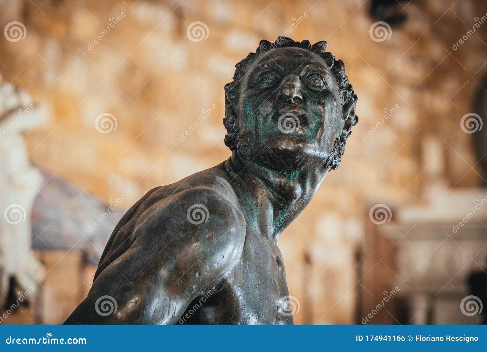 Satyr Bronze Statue In Neptune Fountain Stock Image