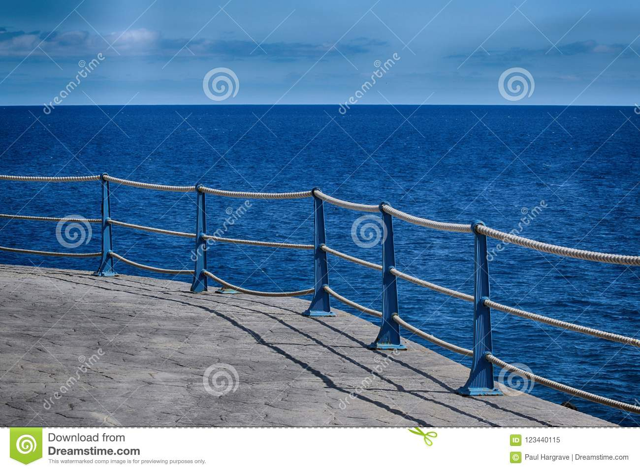 Detail of Sea Wall Roped Barrier