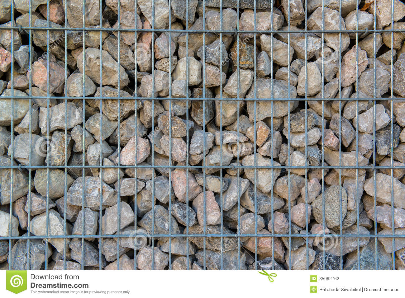 Detail Shot Of A Stone Retaining Wall Stock Photo Image
