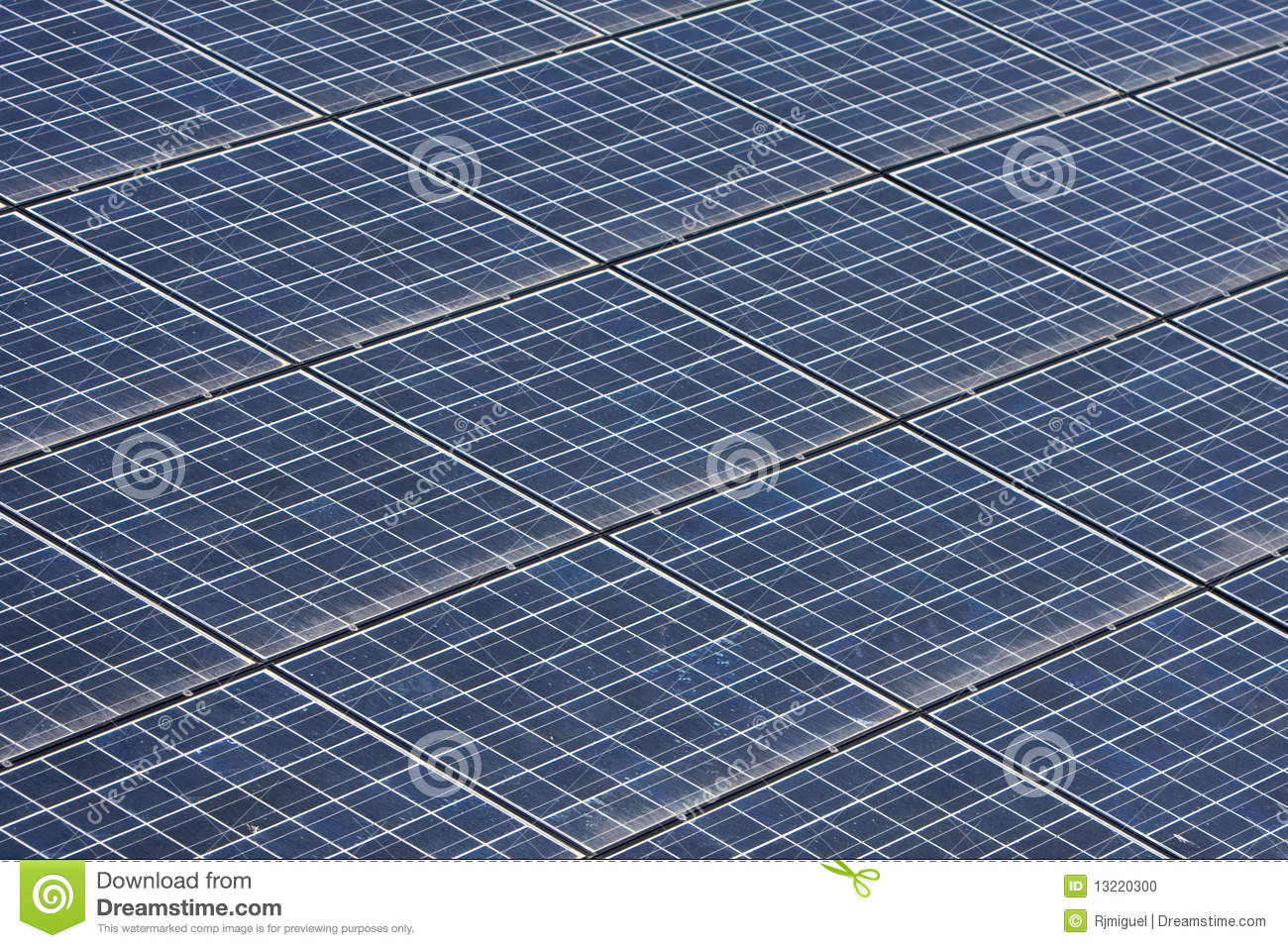 Detail Of Solar Panels Texture Stock Photo Image 13220300