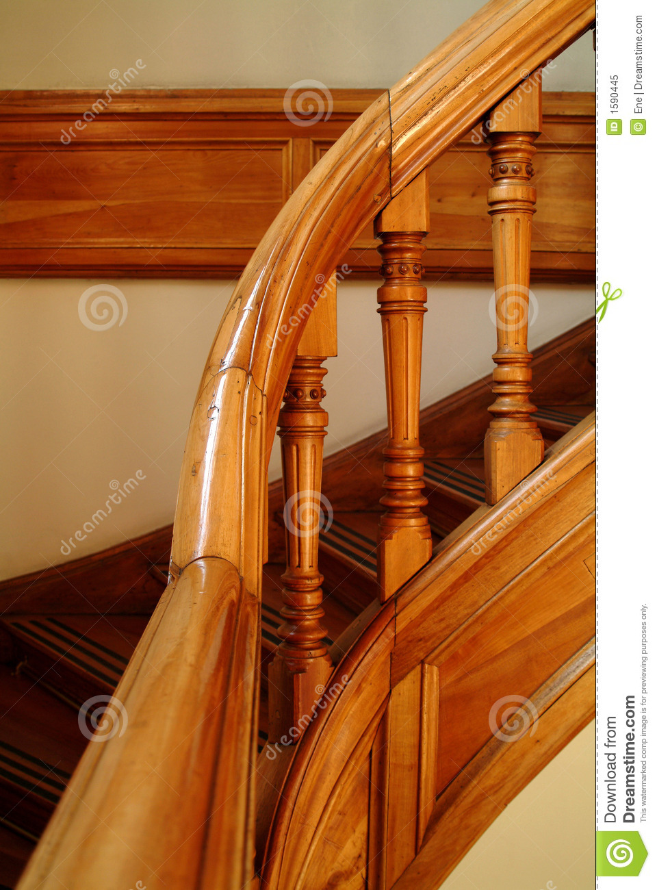 Detail Of A Stairs Handle Stock Image Image Of Building 1590445