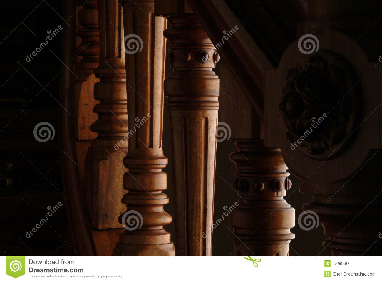 Detail Of A Stairs Handle Stock Photo Image Of Staircase 1590468