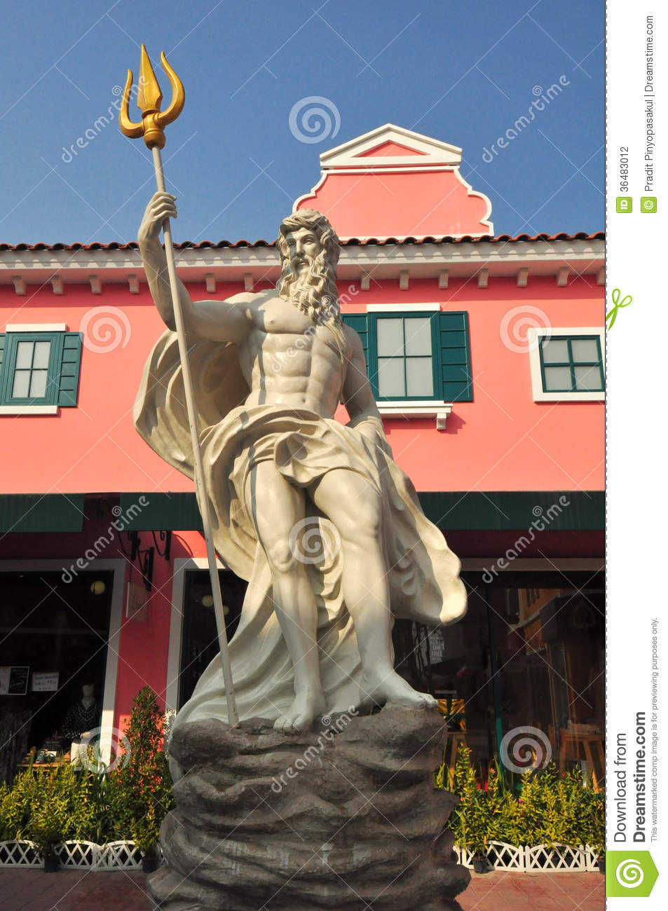 Detail of the statue of poseidon at venezia hua hin stock photography image 36483012 - Poseidon statue greece ...