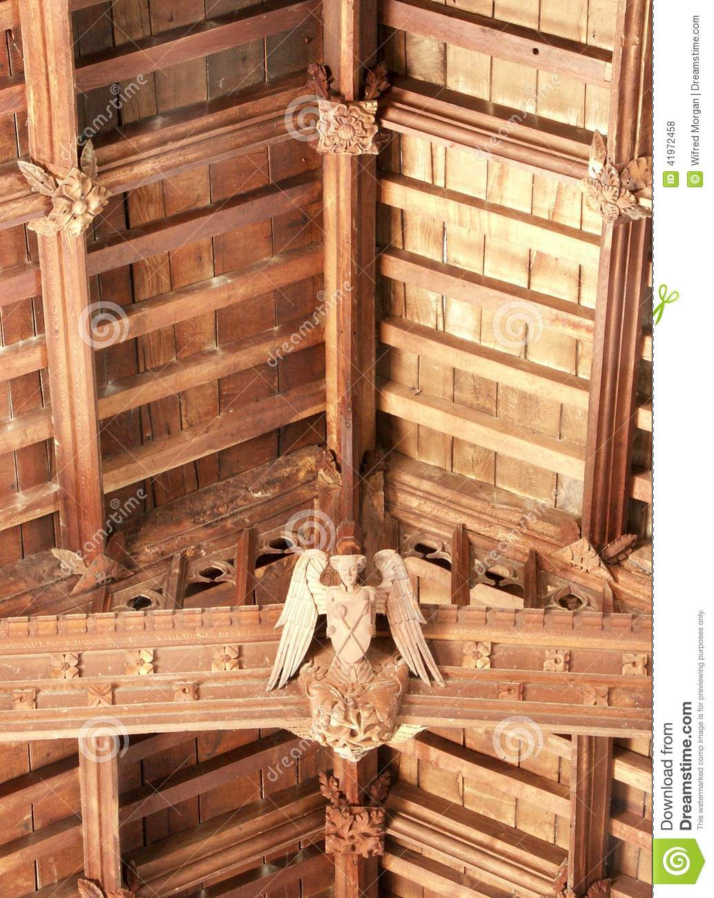 Detail Of Structure And Decoration Of Wooden Medieval