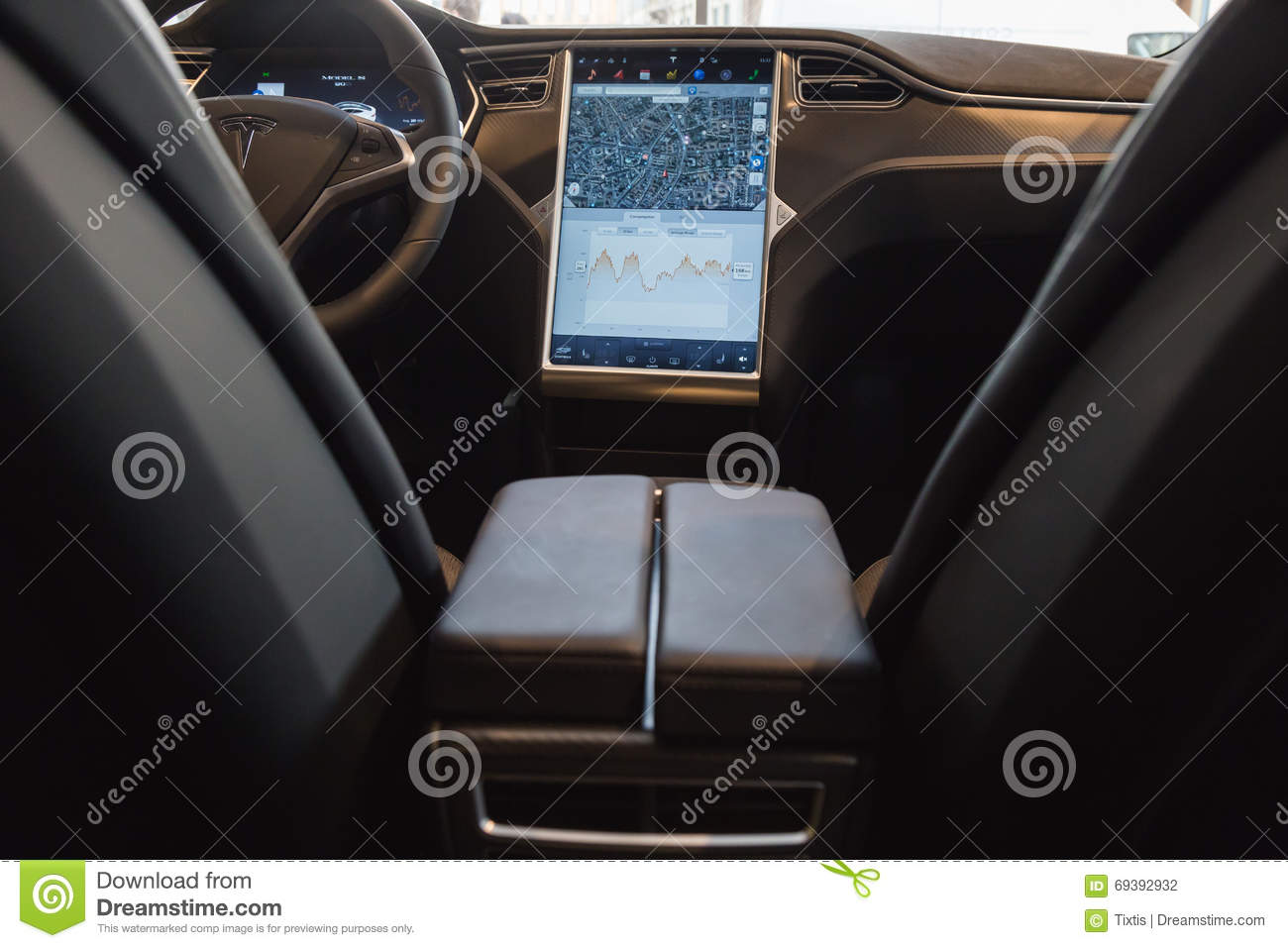 detail of tesla model s car in milan italy editorial photography image 69392932. Black Bedroom Furniture Sets. Home Design Ideas