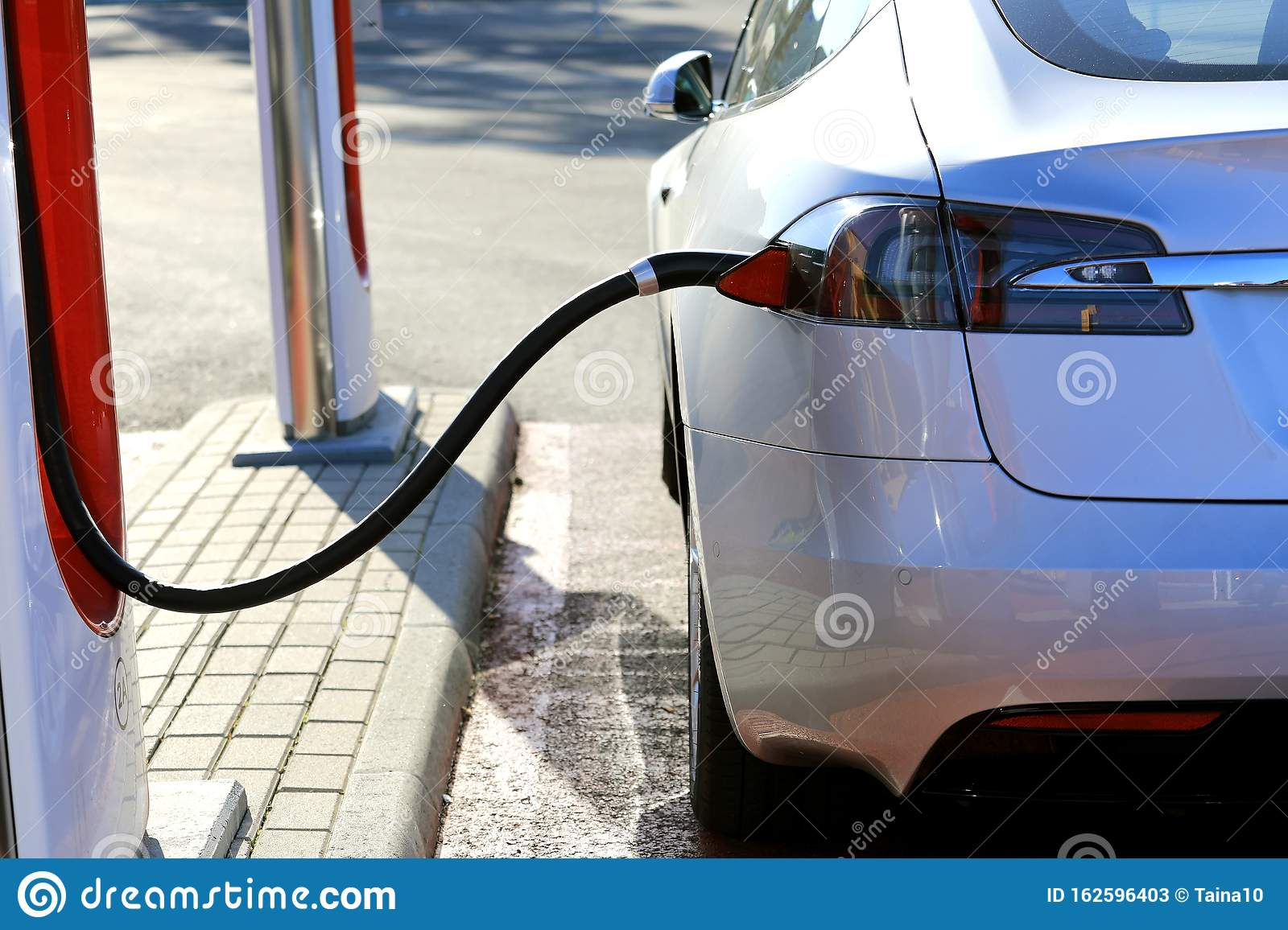 Detail Of Tesla Model S Charging Battery Editorial Stock ...