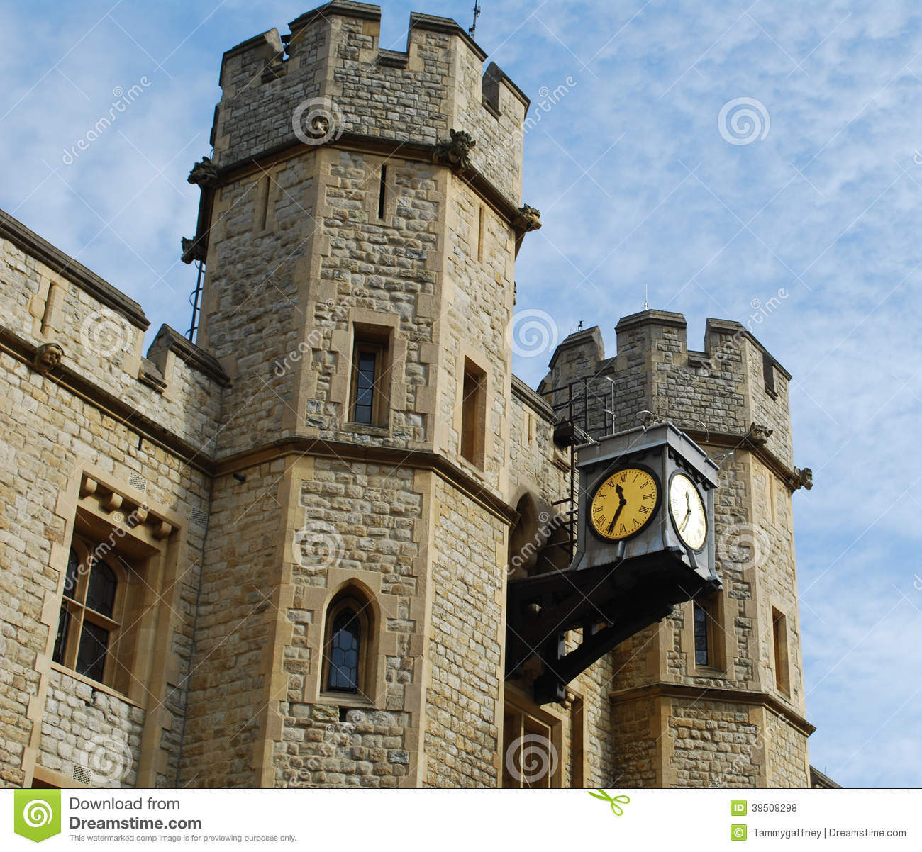 Detail of top of Jewel House at Tower of London