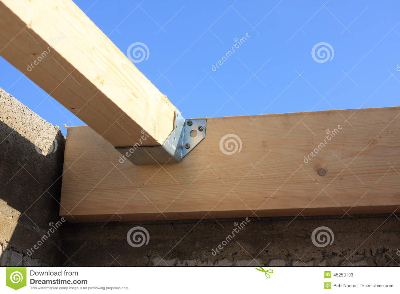 Detail Of The Truss Joints Stock Image Image Of Anchor