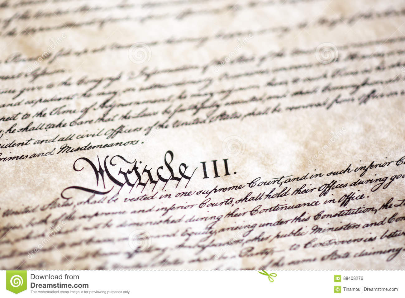 Detail from United States Constitution