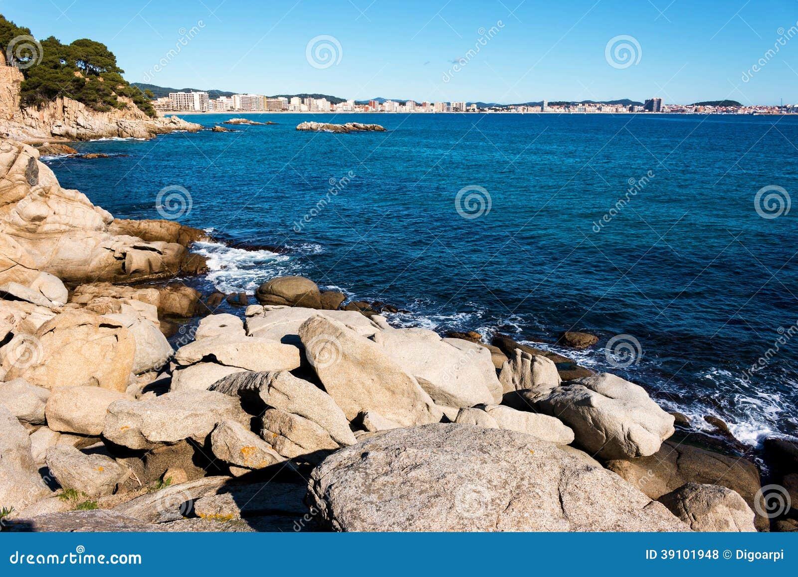 Detail van de Spaanse kust