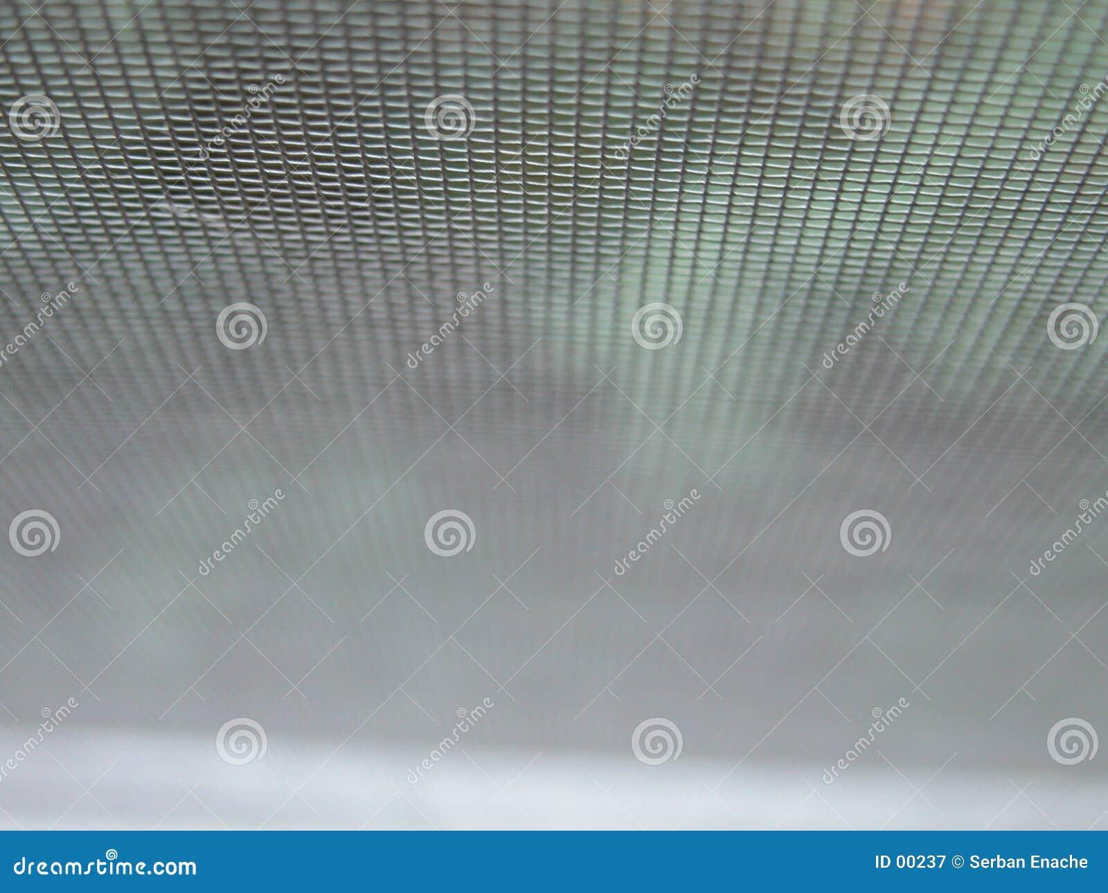 Detail van een draadnet
