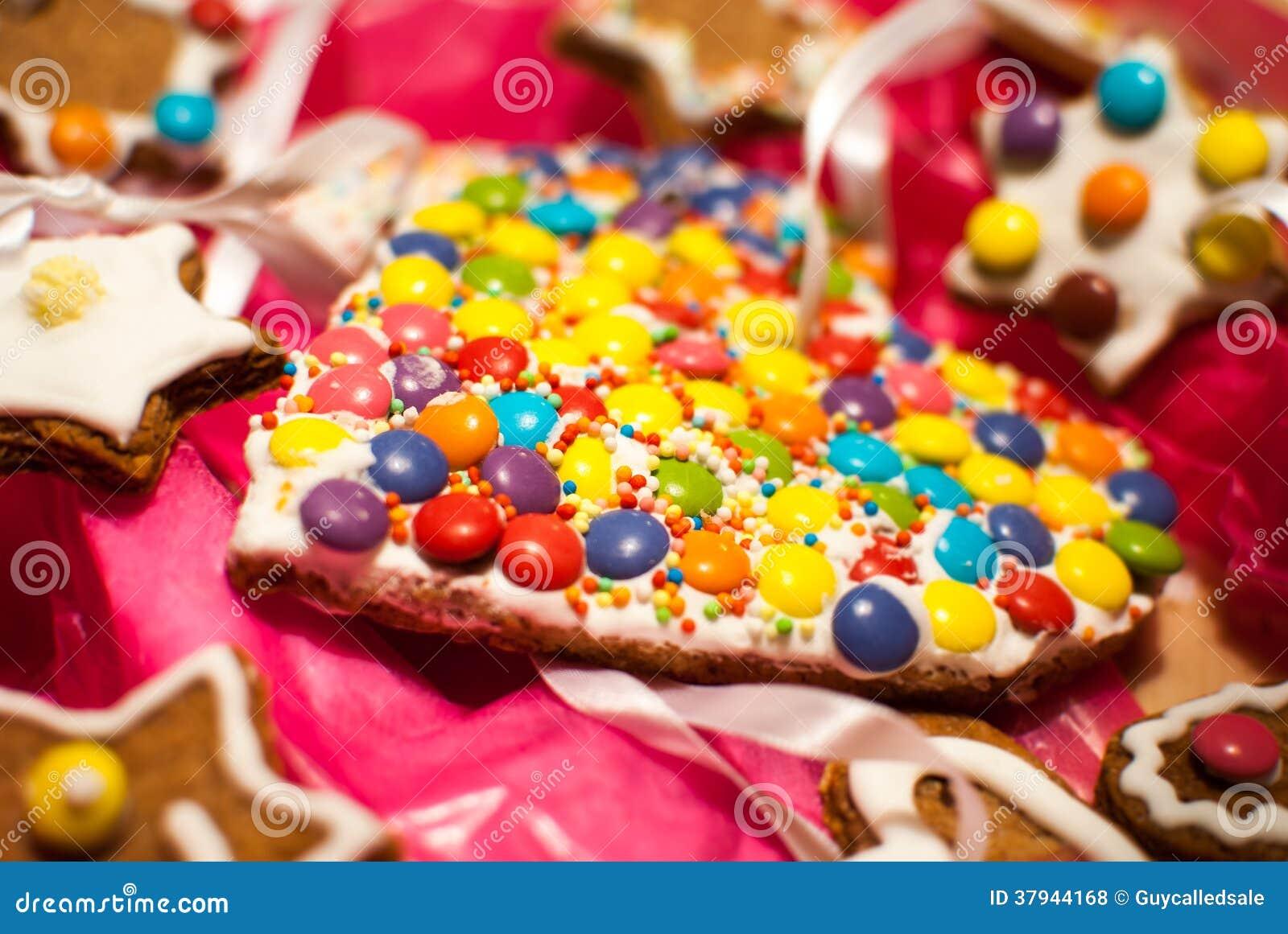Detail van het hartvorm m m van de kerstmisvakantie zoals koekjes royalty vrije stock foto 39 s - Het upgraden van m ...