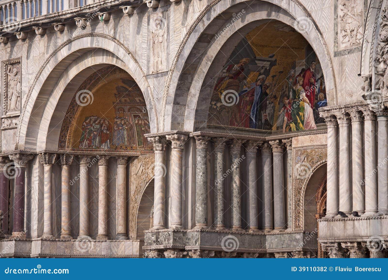 Detail van St Tekenkathedraal in Venetië Itay