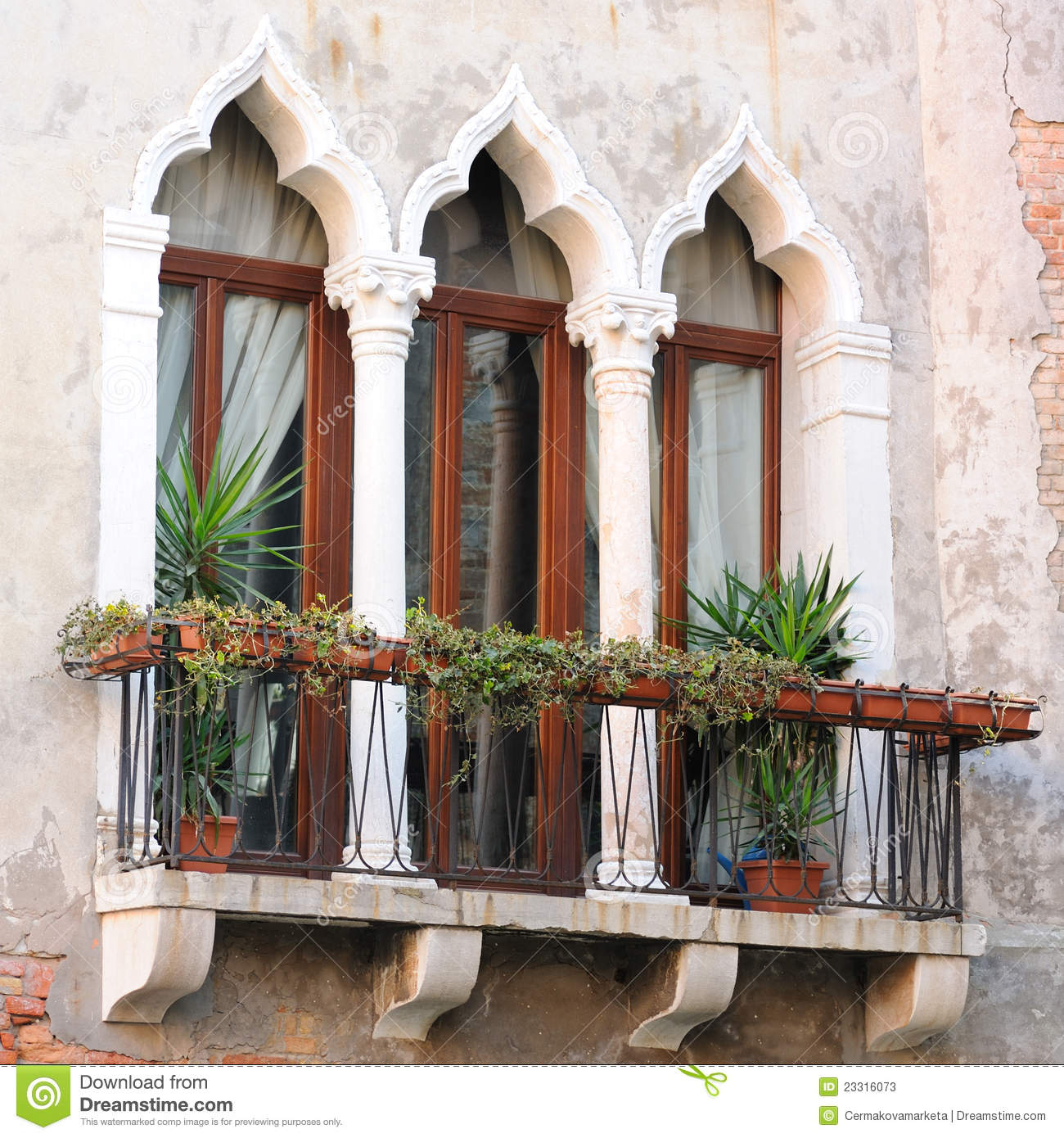 Detail of venetian architecture venice italy stock image for Architecture venise