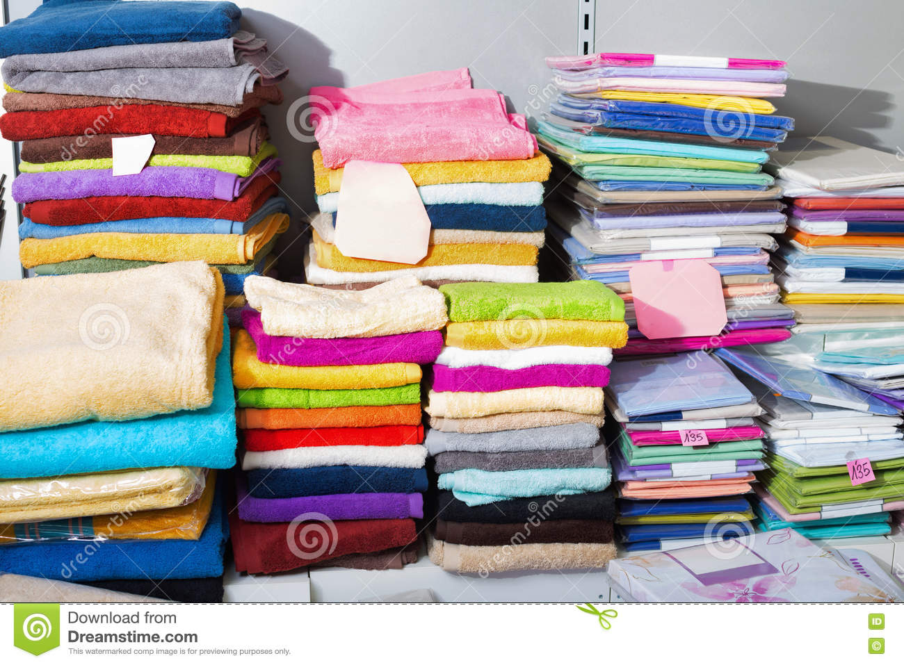 Download Detail View Of Loop Towels And Bed Sheets Stock Image   Image Of  Cloth,