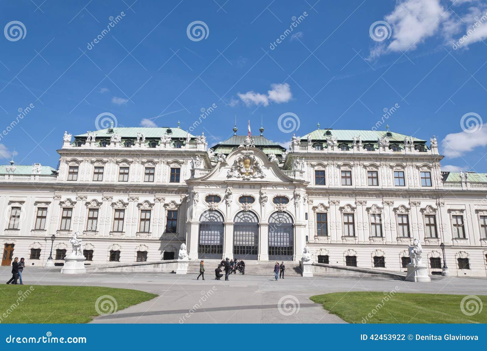Detail vom oberen Belvedere-Palast in Wien
