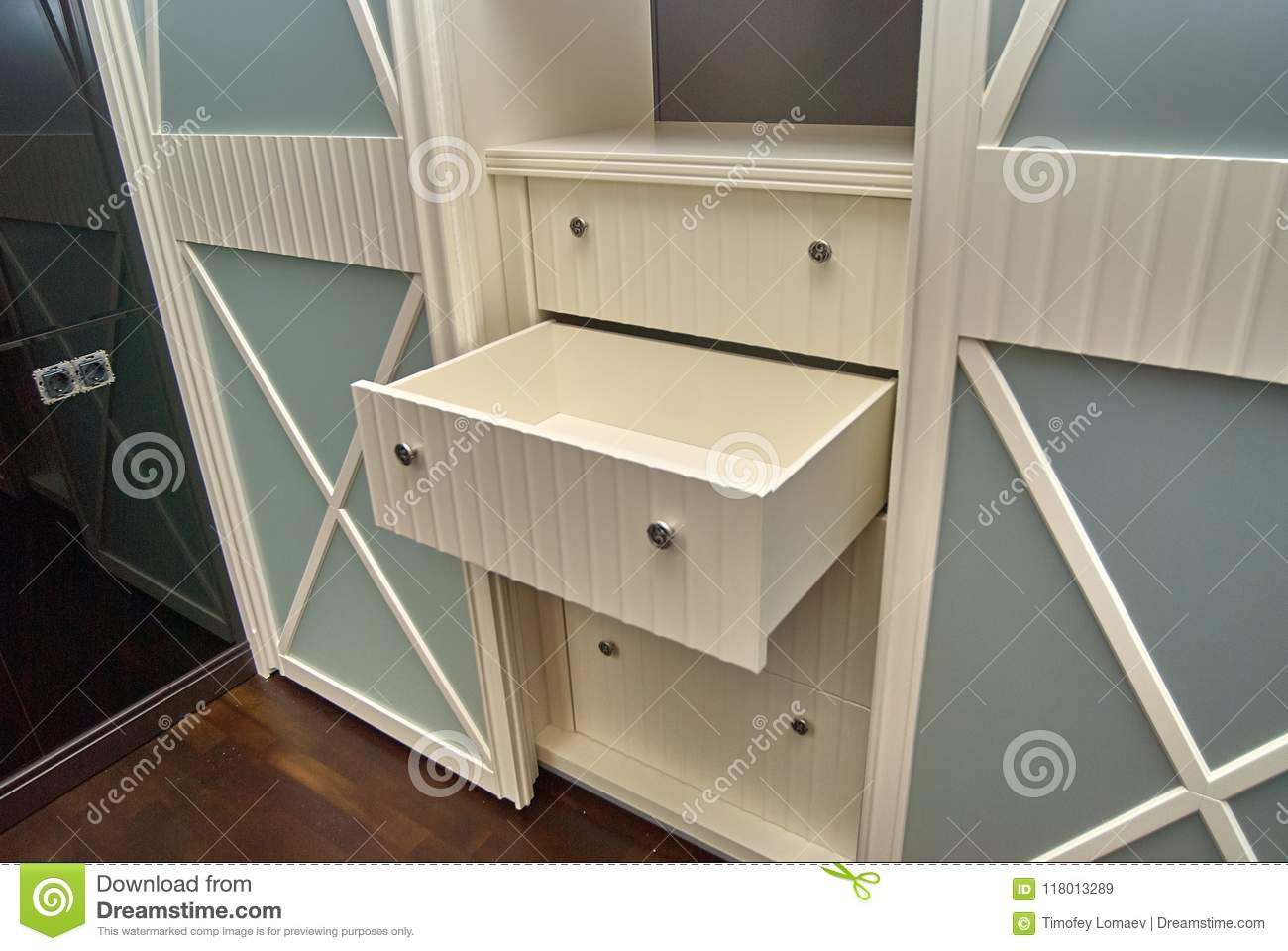 Detail Of A Wardrobe In A Classic Style Stock Image Image Of Close