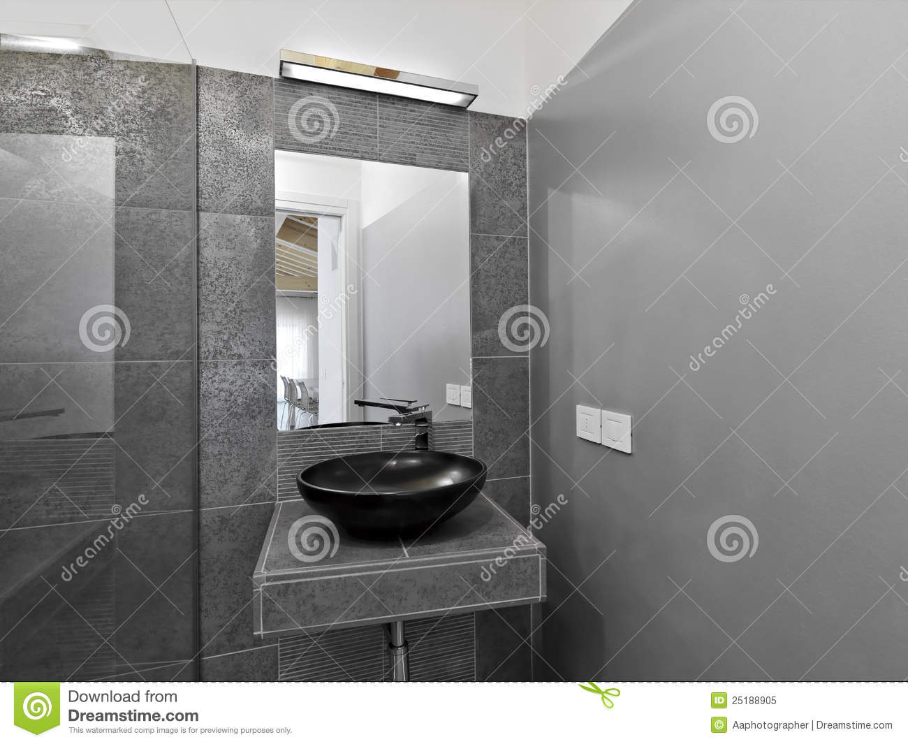 Detail of washbasin in a modern bathroom royalty free for Detail in contemporary bathroom design