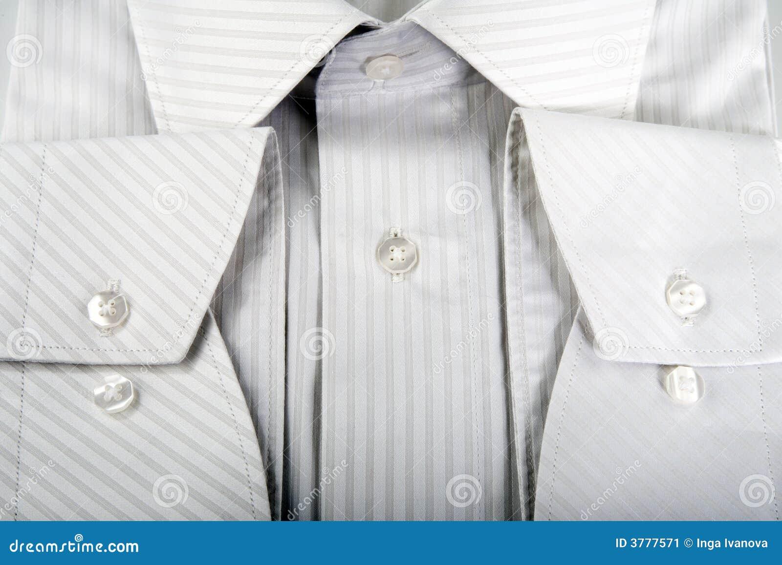 Detail of white men shirt