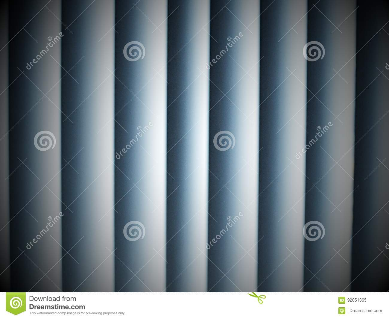 Detail of white vertical blinds