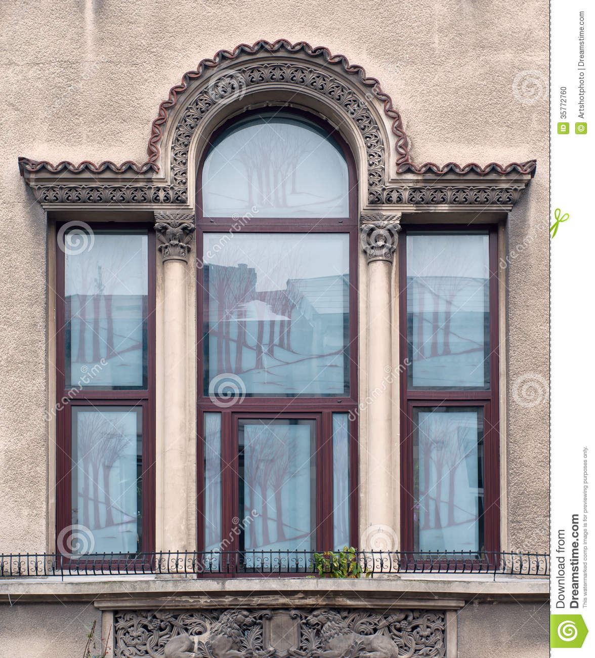Detail Of Windows And Balcony Stock Photo