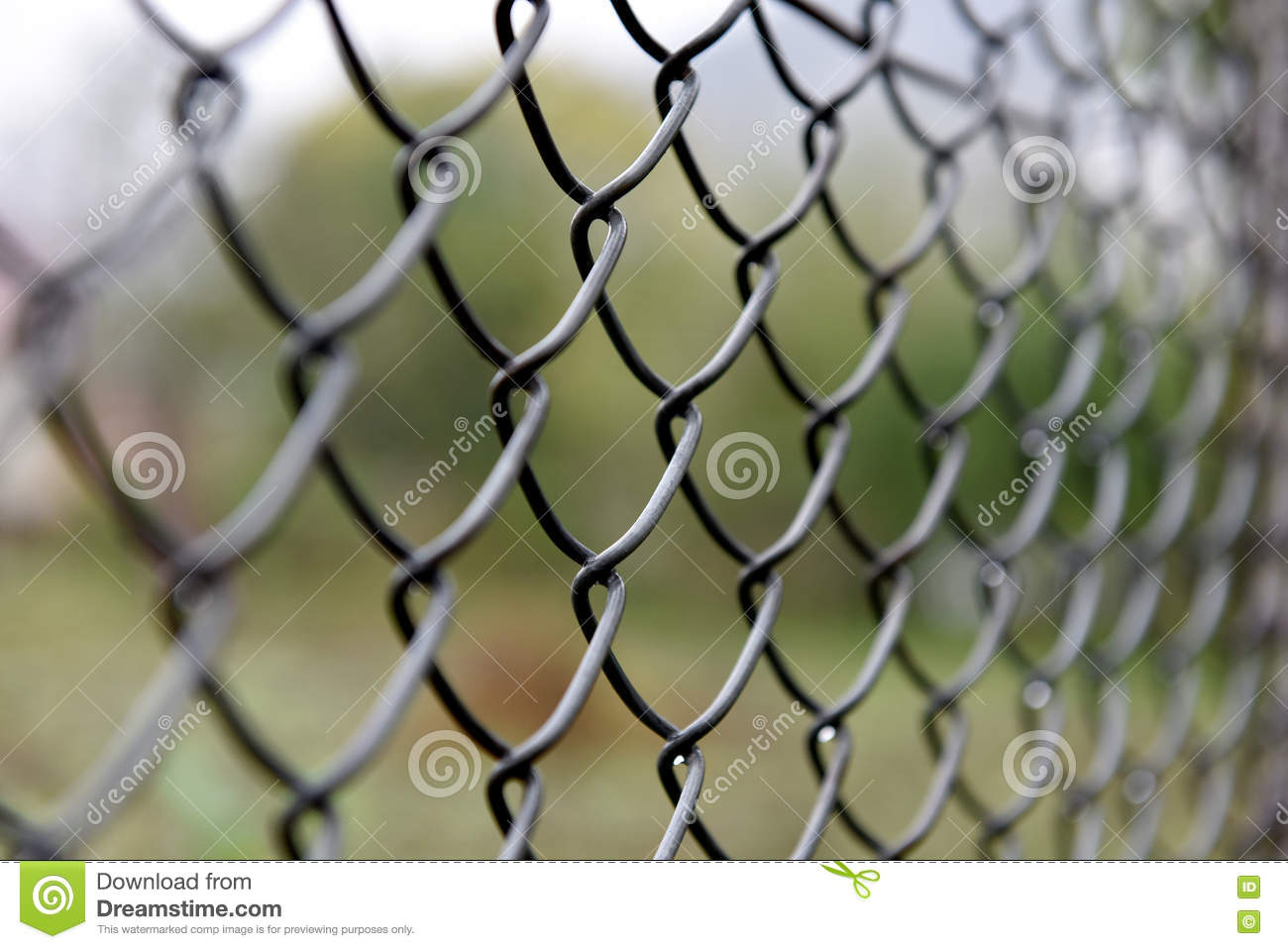 Detail of wire fence stock image. Image of fence, linkage - 78734265