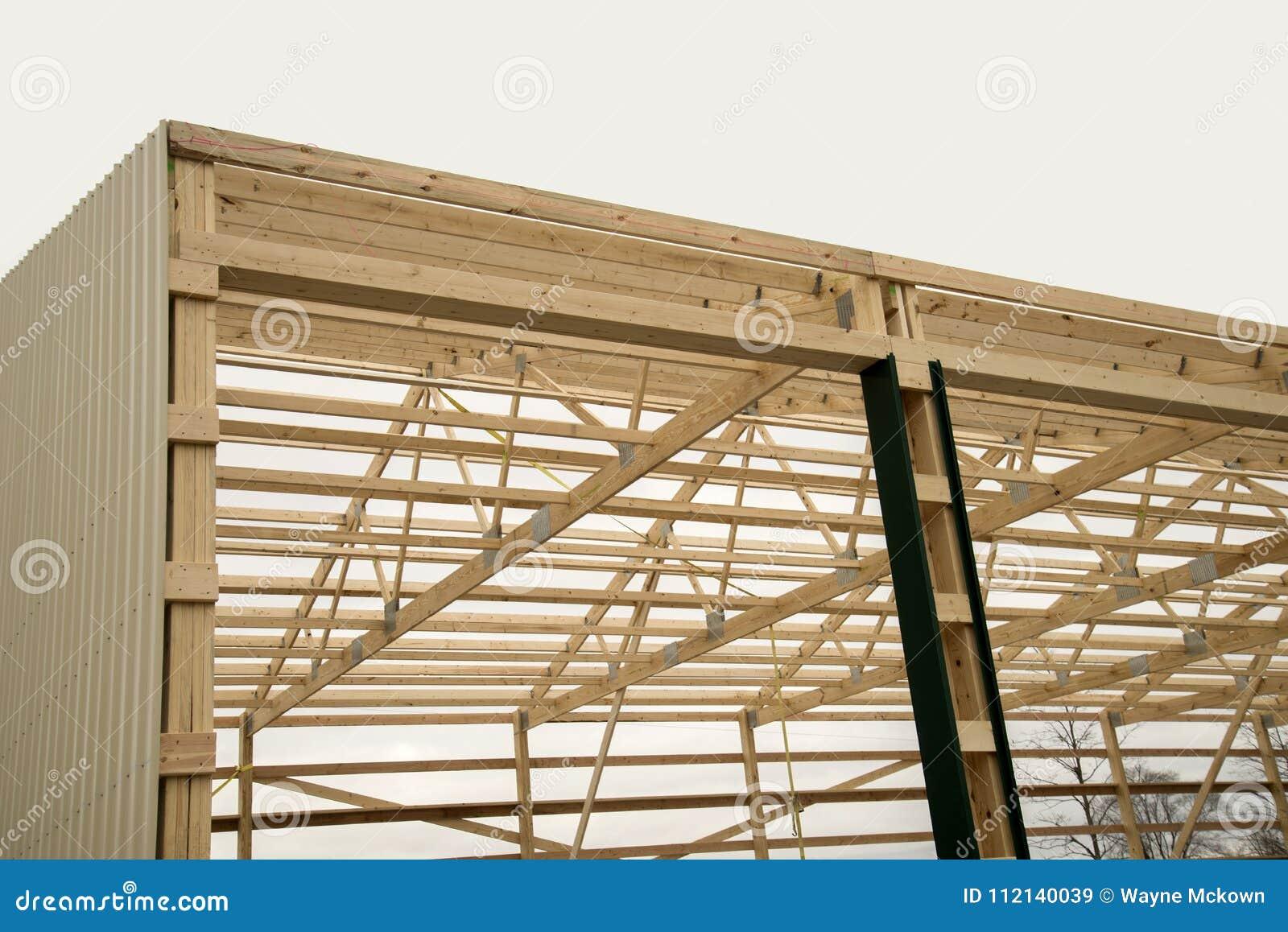 Barn wood framing