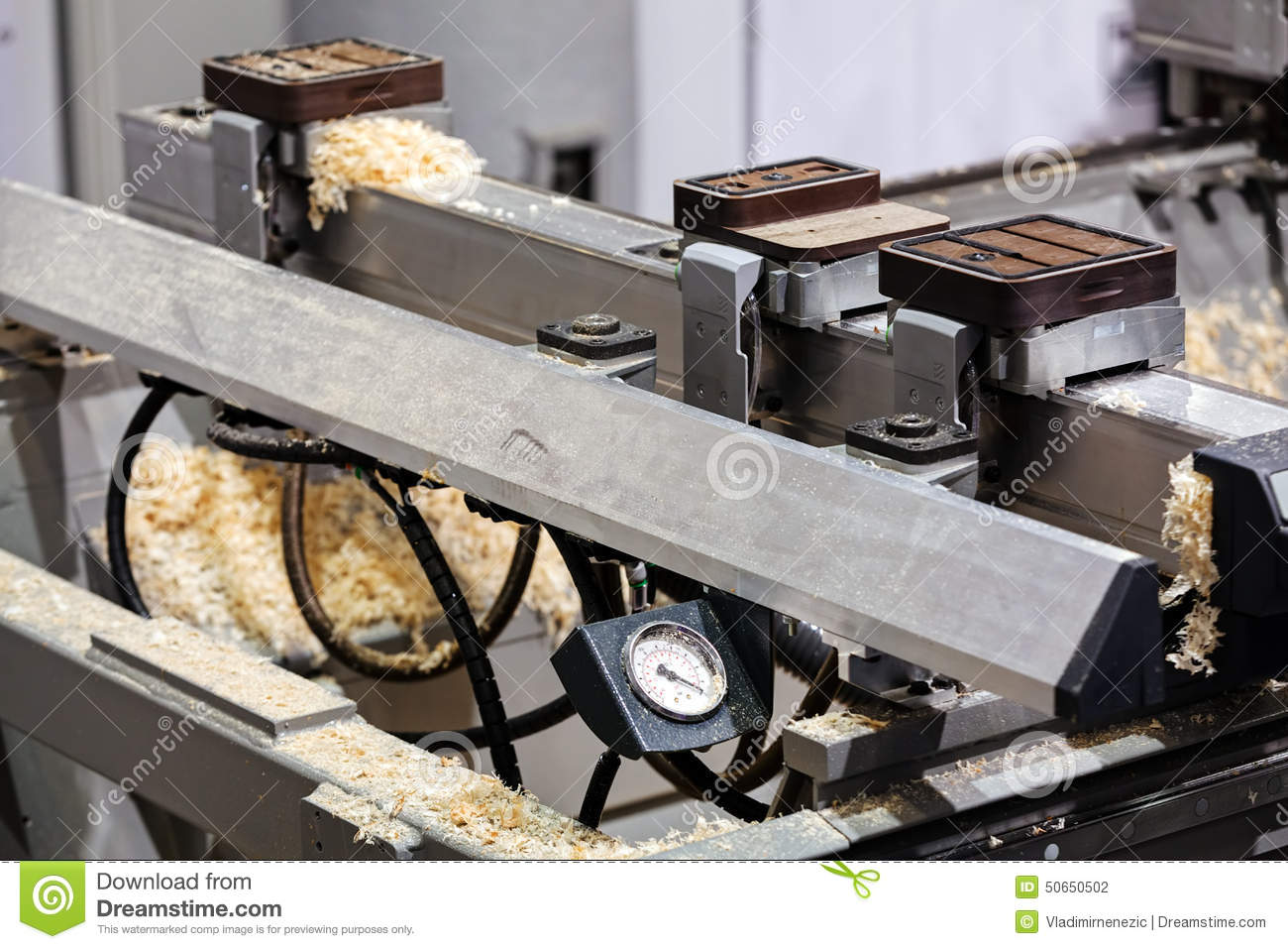 Beautiful Automatic Gluing Apparatus Royalty Free Stock Photos